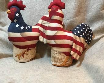 Patriotic Roosters