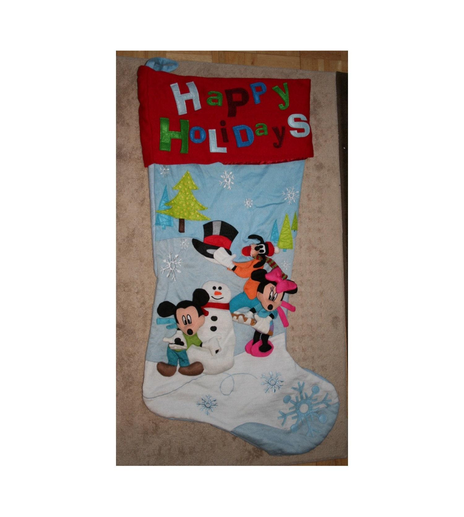 Disney Gang Jumbo Xtra Large Christmas Stocking No 2 Red /Blue   Etsy