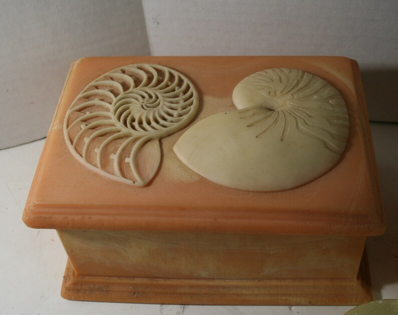 Vintage  Incolay Stone Trinket Boxes 1980/'s