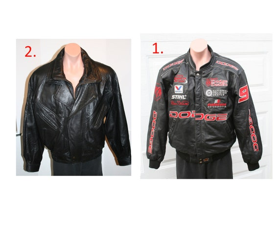 Men / Women Leather Racing Nascar Jacket AND Leath