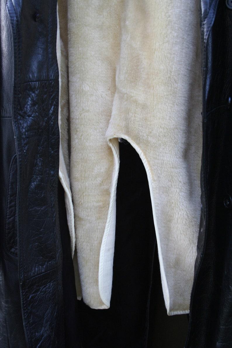 Vintage Pierre Foshey Women/'s Nappa Leather Long Style Coat SIZE 40