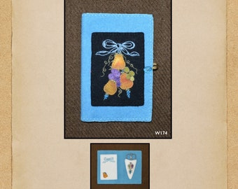 North Cat-Olina Quilts, Pear Needle Minder and Scissor Keep, Wool Appliqué Pattern