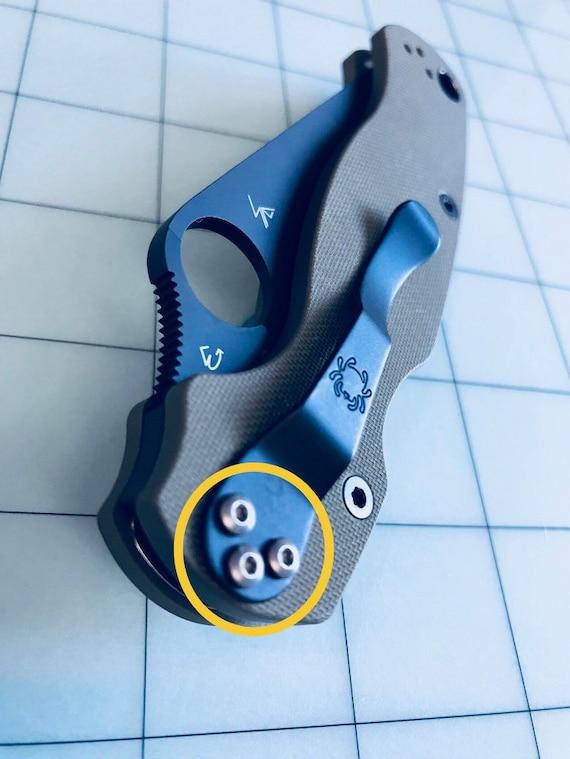 Spyderco Paramilitary 2 and Para 3 CUSTOM Titanium Pocket Clip Screws
