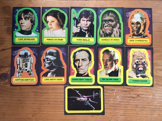dafe637b9fb Star Wars Die Cut Topps Trading Card Stickers Numbers 1