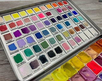 Magnetic Swatch Squares for Watercolor Paint (Pack of 50 or 100) - Watercolor Swatch Organization