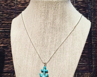 Anchor Stripe Necklace