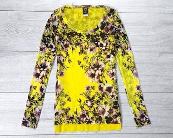 d9d5594caaa Retro Jean Paul Gaultier flowers print vintage Top