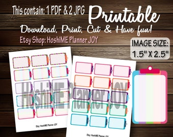"""Daily TO DO and Reminder lists for Happy planner, calender. Scale:  1.5"""" X 2.5"""" - L010"""