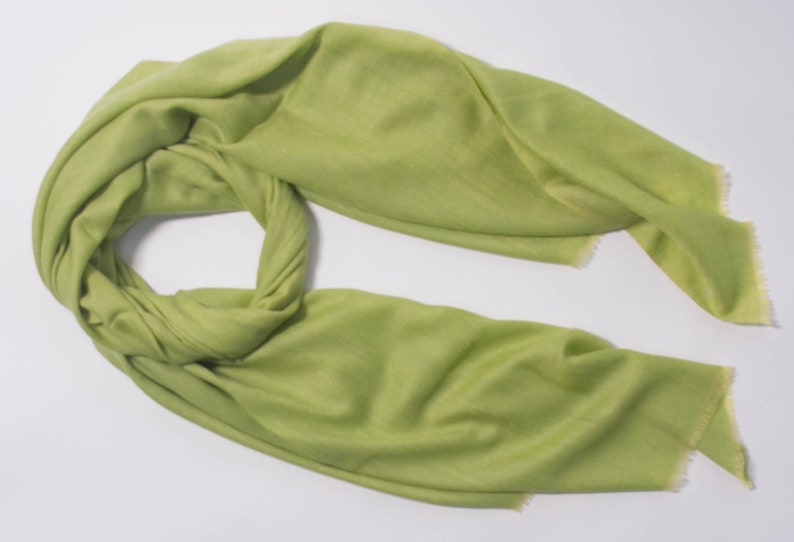 7c5c366fc 100% Cashmere Scarves: Lime green scarf | Etsy