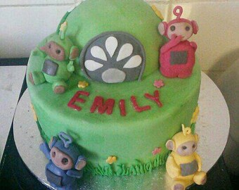 Tellytubby edible cake toppers