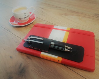 Handmade Leather, Double Pen Holder for any Large (A5) notebooks, such as Moleskine and  Leuchtturm1917  (choice of colours)