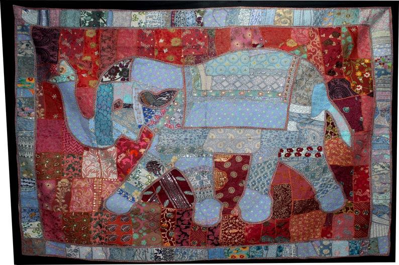 "Antik Indian Mandala Design Khambadiya Patchwork Wall Hanging Wall Tapestry 100/"""