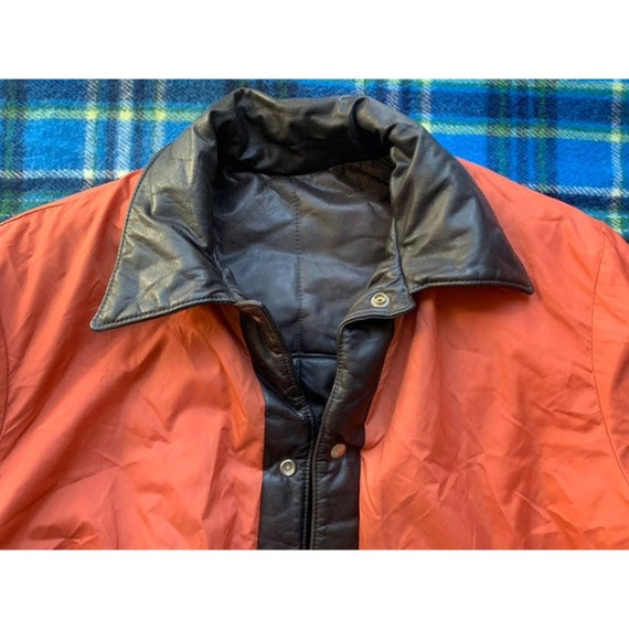 Rare 1970s Pioneer Wear Reversible Brown Leather … - image 9