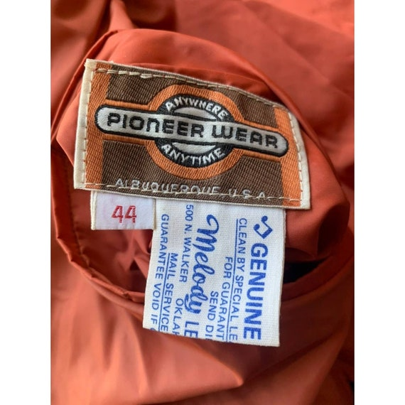 Rare 1970s Pioneer Wear Reversible Brown Leather … - image 10