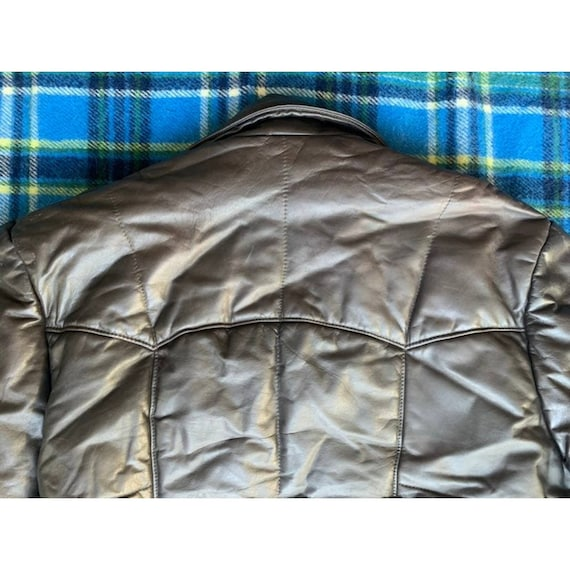 Rare 1970s Pioneer Wear Reversible Brown Leather … - image 5