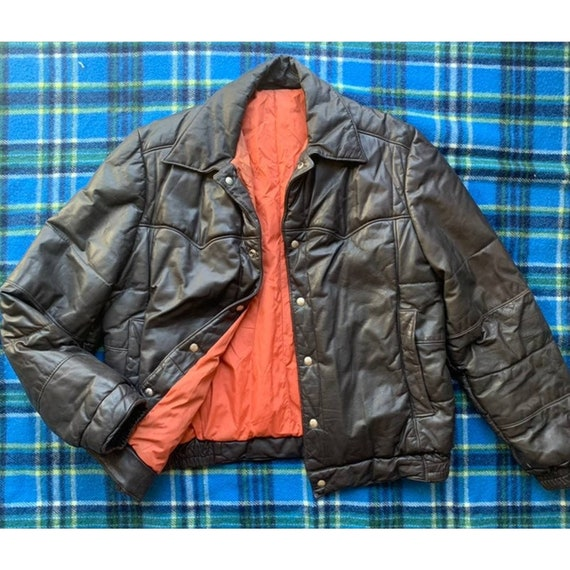 Rare 1970s Pioneer Wear Reversible Brown Leather … - image 1