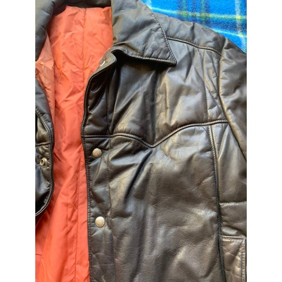 Rare 1970s Pioneer Wear Reversible Brown Leather … - image 2