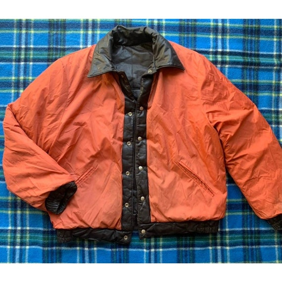 Rare 1970s Pioneer Wear Reversible Brown Leather … - image 6