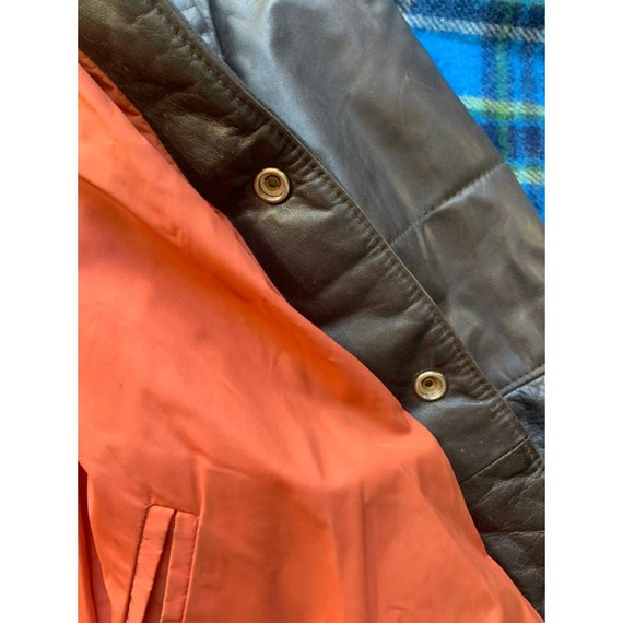 Rare 1970s Pioneer Wear Reversible Brown Leather … - image 3