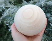 Big wooden ball Large wooden bead Natural Eco friendly Wooden contemporary Christmas tree Unfinished DIY Wooden Doll head
