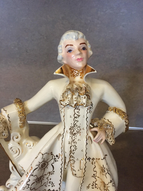 Florence Ceramics Gentleman Figurine Jerry Musician Flower Holder