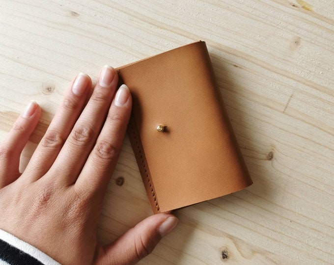 Mini leather wallet / party wallet ) leather card case / tiny wallet / boho