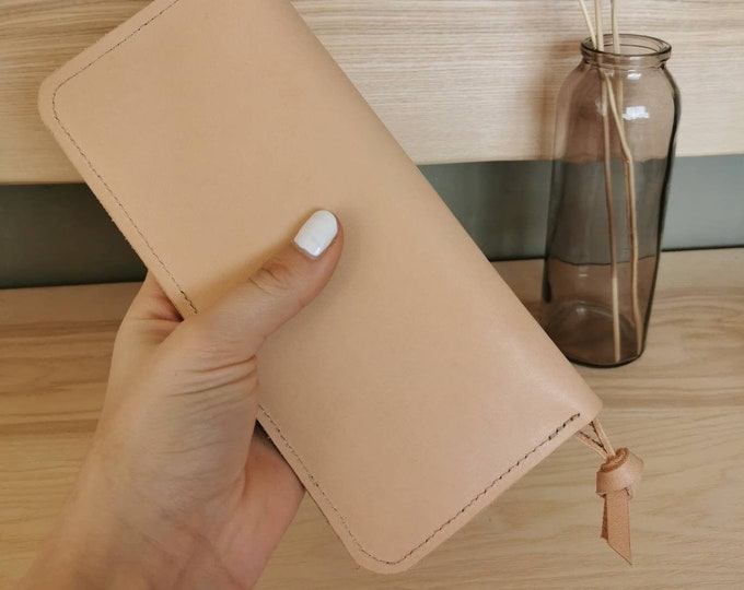 Leather wallet / wallet for women / Nude leather wallet / Leather wallet ) vegetable tanned