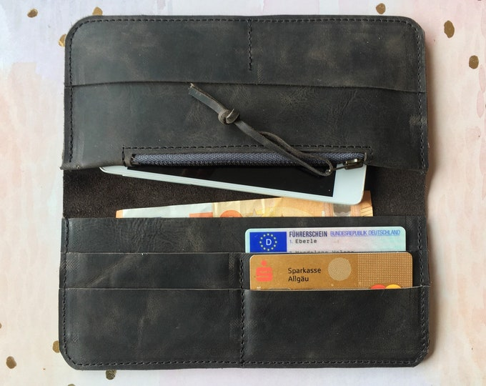 Black Leather Wallet / Wallet / Black Leather Wallet = Minimal / Leather Wallet