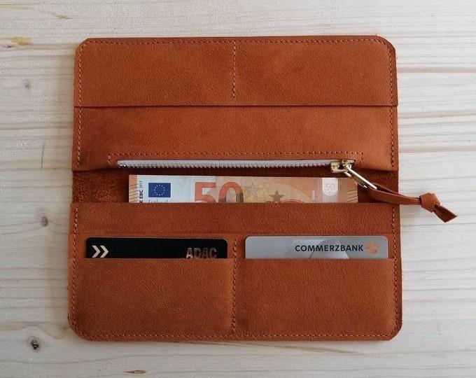 Orange leather purse / wallet / orange leather wallet leather wallet / Indian Summer Dream