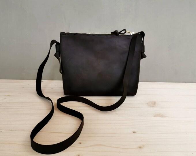 Small crossbody bag / maroon bag / Festival Bag / Leather shoulder bag / chestnut leather bag