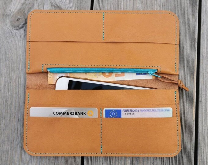 Camel Brown Wallet / Wallet / natural tanned wallet