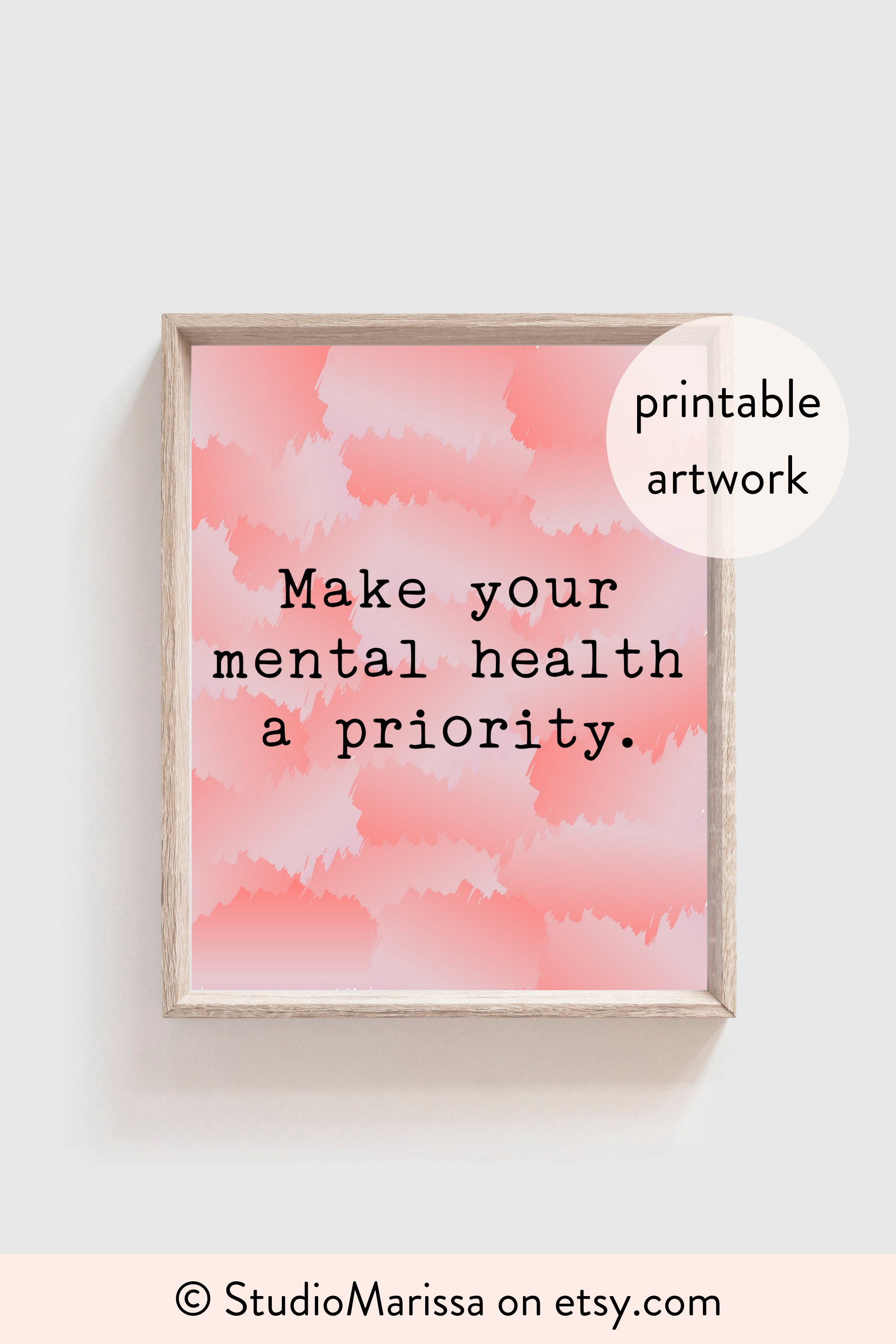 Messages Through Art Digital Download Retro Feminism Support Privacy || Small Size Print Self Care Art Illustration Mental Health Art