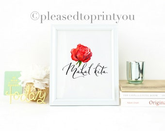 Mahal kita.   Digital printable Filipino decor, Filipino art, Filipino language, Tagalog, Philippines decor, Filipino design, Printables