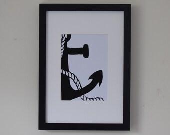 Anchor Lino Print