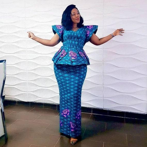 nouvelle arrivee 81f90 86c16 Ankara magnifique et chic, robe africaine, robe de Kitenge
