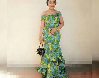 Stylish Ankara Dress, African Print Dress