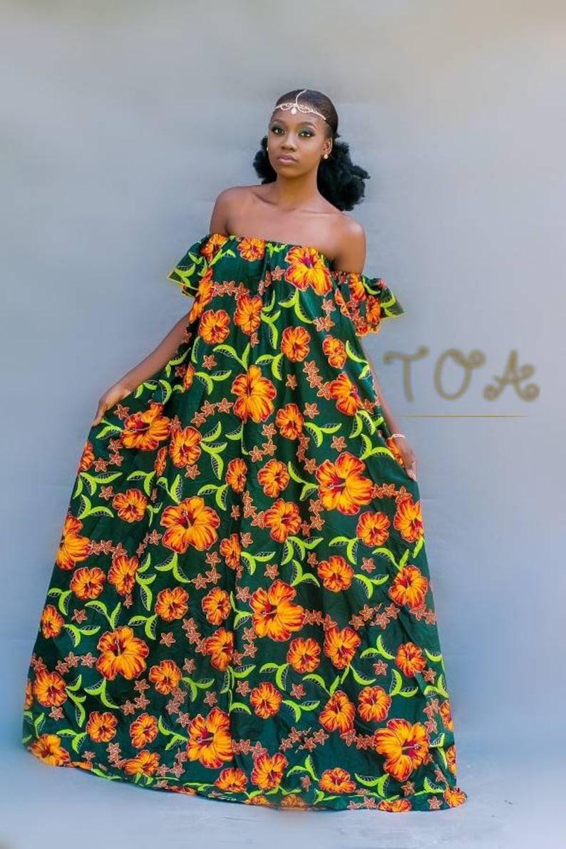 9ab19b77789d Ankara Maxi Dress African Print Maxi Dress Kitenge off