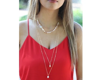 Freshwater pearl double necklace