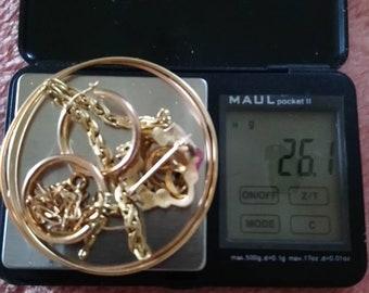 26g gold 18 k has wear, or blend