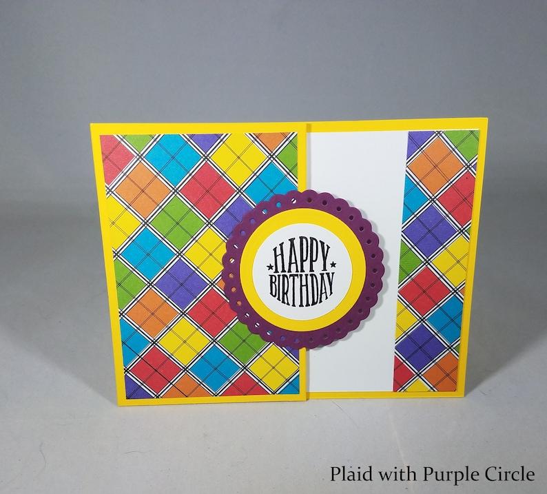 Circle Gift Card Holder Happy Birthday Greeting Holders