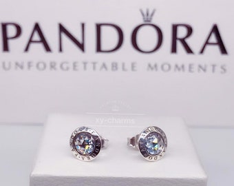 5b88f31bf Brand New Pandora Sterling Silver Radiant Logo Stud Earrings 296216CZ