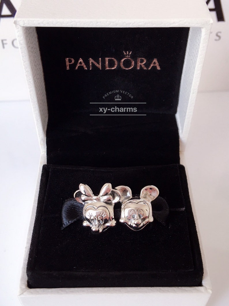 pandora charms mickey and minnie mouse