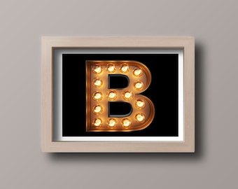 A Letter B,B is for ,Digital,Download,Decor,Home,Office,Gift,Baby Shower,Gift,Green,Planet,Baby shower,Name,Word,Meaning,B for