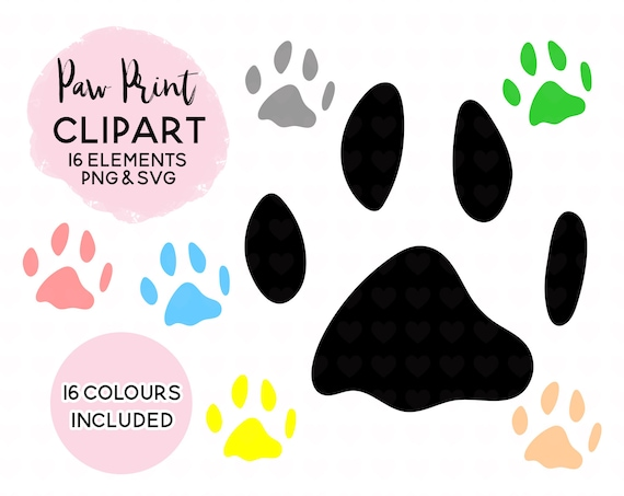 Dog Paw Print Clipart Paw Print Svg File Realistic Paw Etsy Dog logo paw patrol, paw patrol, paw patrol logo, emblem, animals, paw png. etsy
