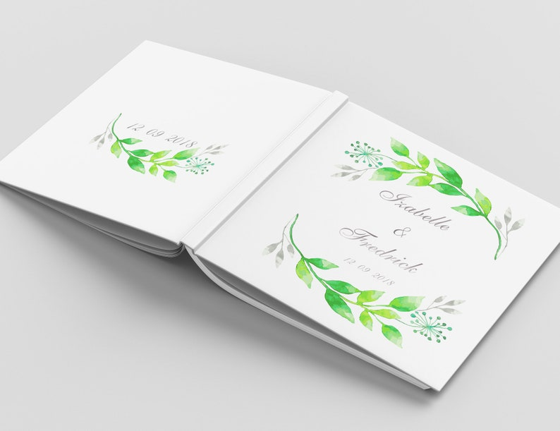 Silver Foil Wedding Guest Book Custom Wedding Guestbook Personalized Wedding Album Rustic Guest Book Floral Wedding Guest Book Ideas
