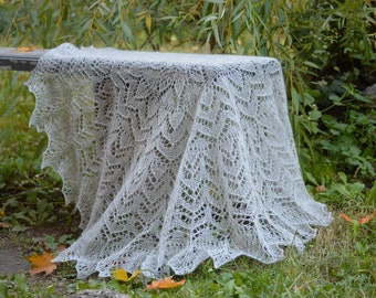 9a506d83d2e5 gray or white Lace Baby blanket