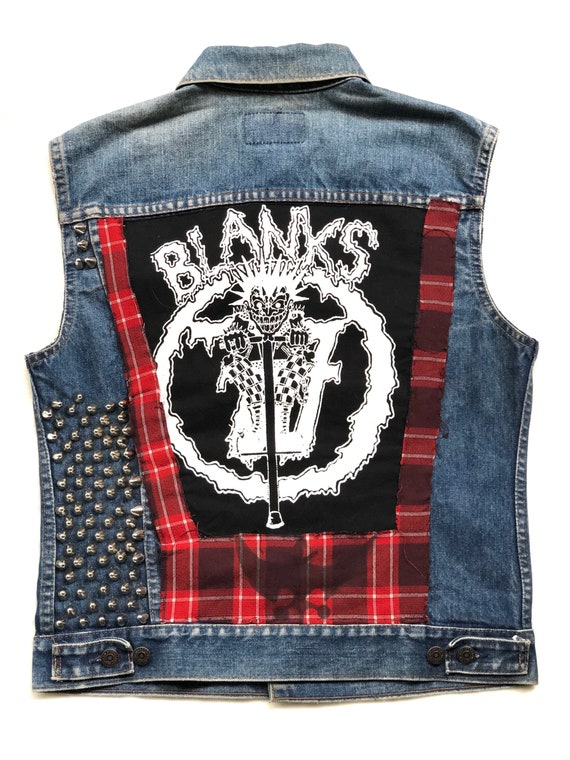 Vintage 80's Levis Red Tab Studded Punk Rock Patch