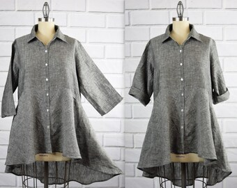 4acde828db Hi Low Linen shirt