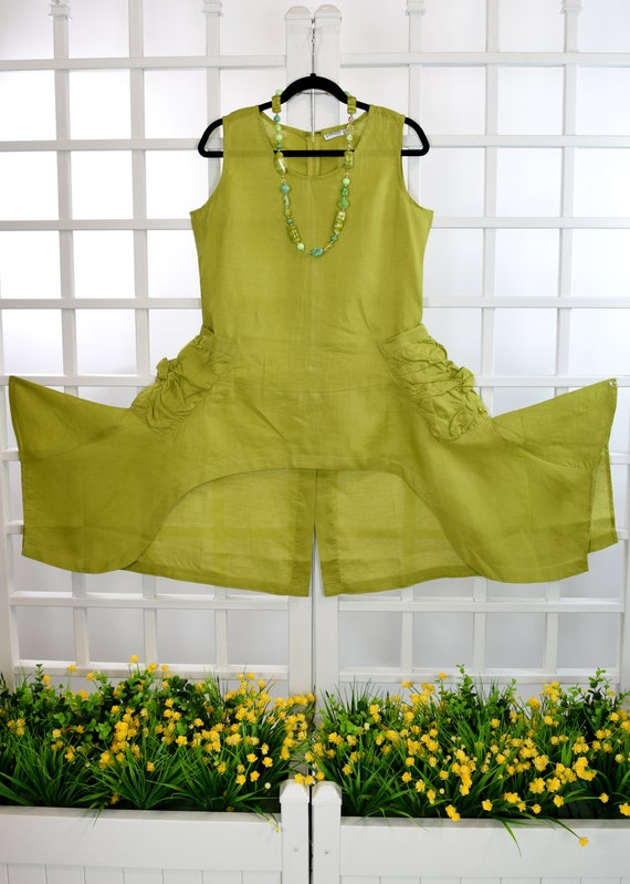 Tunic linen Linen Hi Low Women Tunic Asymmetrical Tunic Tunic Designer Top Linen Linen Lagenlook Crisp Linen Tunic Ramie Tunic wtdq8Sw