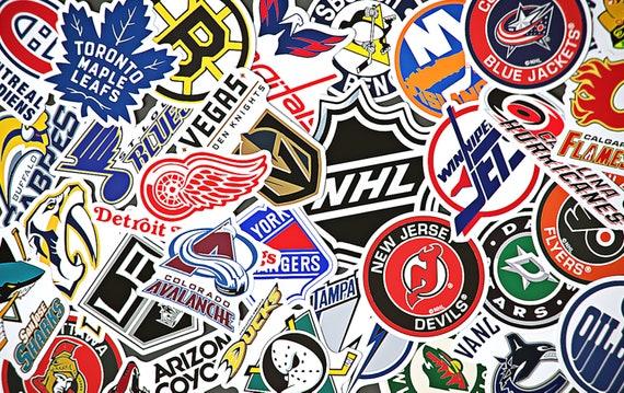 National Hockey League Sticker Sheet Nhl National Hockey Etsy